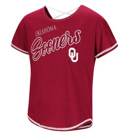 Colosseum Youth Girl's Oklahoma Sooners Little Giants Dolman Tee