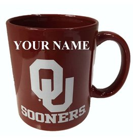 RFSJ Oklahoma Ceramic Crimson Coffee Mug with Your Name
