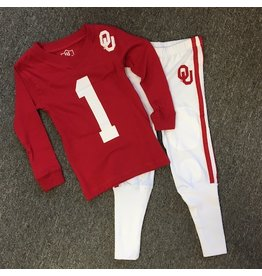 Wes & Willy Children's Wes & Willy 2-Piece Football Pajama Set