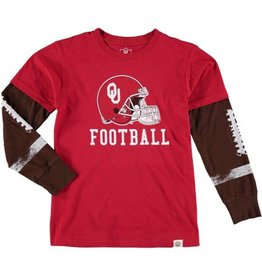 Wes & Willy Children's Wes & Willy Long Sleeve Football Tee Helmet Design