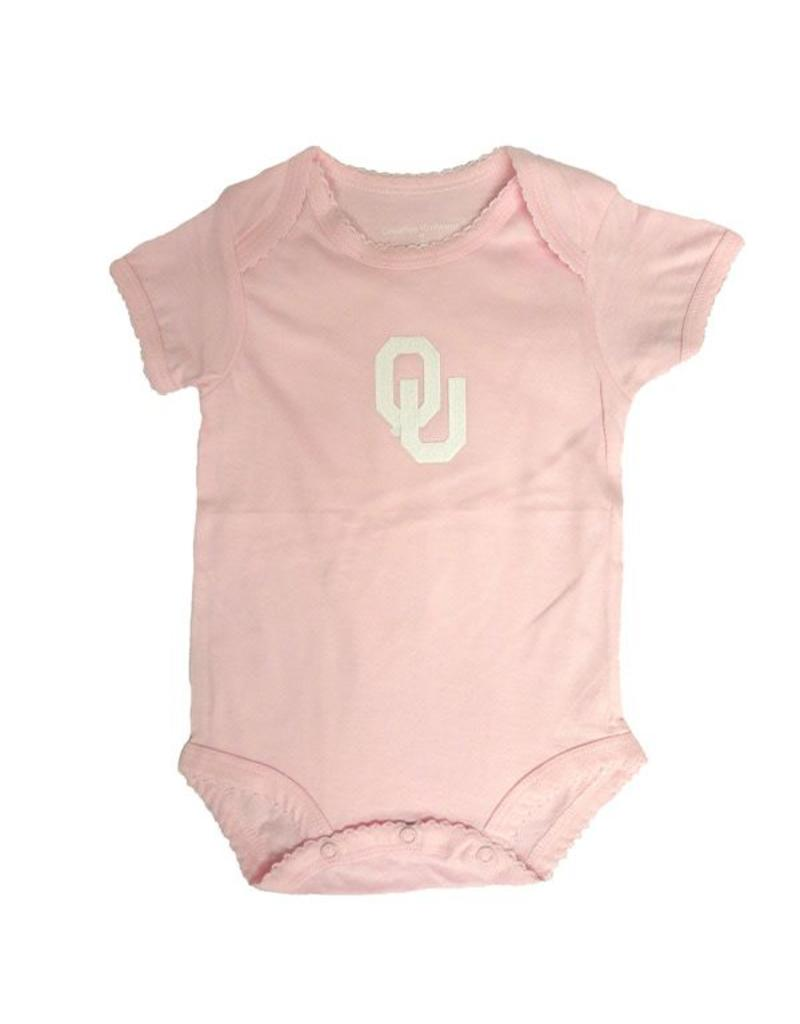 Creative Knitwear Infant Creative Knitwear Pink Onesie with Bottom Snaps