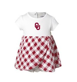 Garb Infant Garb Gingham Check Skirt Creeper with Snap Closure
