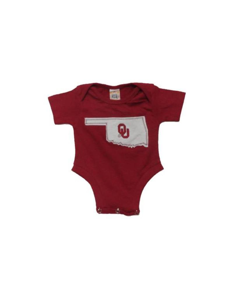 Little King Infant Little King Onesie with State of Oklahoma Design