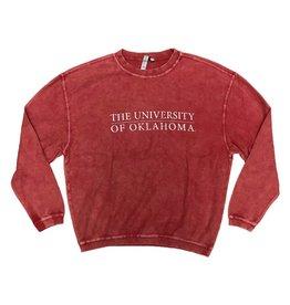 Chicka-d Women's Chicka-d Crimson Oklahoma Corded Crew Sweatshirt
