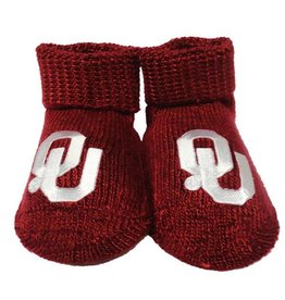 Two Feet Ahead Newborn Crimson OU Booties
