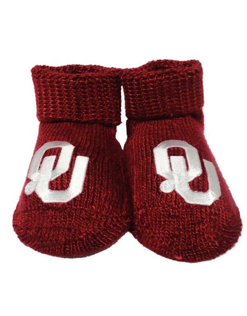 Two Feet Ahead Newborn Crimson OU Booties