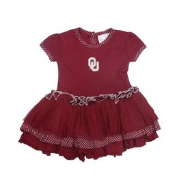Two Feet Ahead Toddler Two Feet Ahead Dress with Tulle & Pin Dot Ruffles