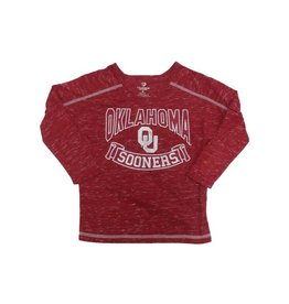 Colosseum Colosseum Girls Three-Quarter Sleeve Heather Crimson Tee