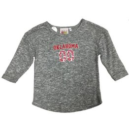 Chicka-d Youth Chicka-d Cozy Soft Grey Sweatshirt with Floral Print