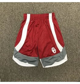 Colosseum Youth Colosseum Crimson Athletic Short with White & Grey Stripes