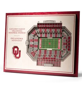 You The Fan OU 5-Layer Stadium View 3D Wall Art