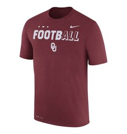 Nike Youth Nike OU Football Legend Crimson Tee