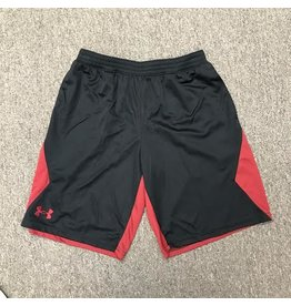 Under Armour Youth Under Armour Black Athletic Short with Crimson Back