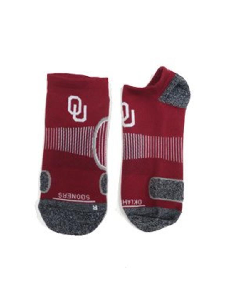 '47 Brand 47' Brand OU Crimson/Dk. Grey No Show Performance Sock Men's 9-13/Wm's 10-12