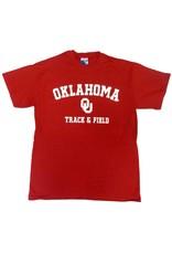 Gildan Basic Cotton Tee Oklahoma Track & Field Crimson