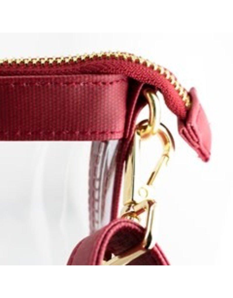 "Capri Designs OU Fashion Clear Small Crossbody 8""x6""x1.6"""