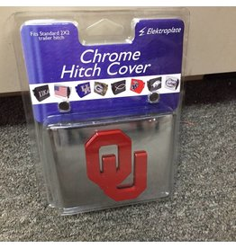 Elektroplate OU Hitch Cover Chrome with Crimson OU