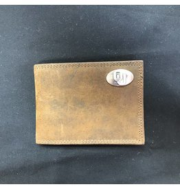Zep-Pro Zep-Pro OU Concho Leather Wallet w/ Money Clip