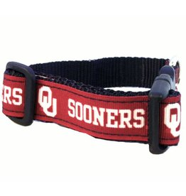 All Star Dogs OU Sooners Crimson Ribbon Dog Collar