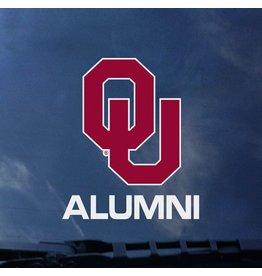 "Color Shock OU over Alumni Auto Decal 3.5""x3.6"""