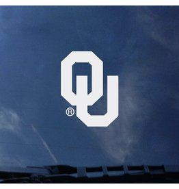 "Color Shock OU White Auto Decal 4.7""x3.4"""