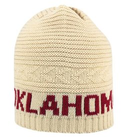 Top of the World TOW Leisure Oklahoma Sooners Cream Knit Beanie