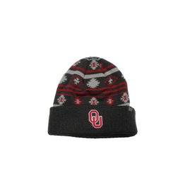 Top of the World TOW OU Schooner Aztec Charcoal Knit Beanie