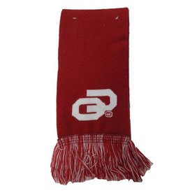 Top of the World Top Of The World OU Knit Scarf with Fringe Crimson & White