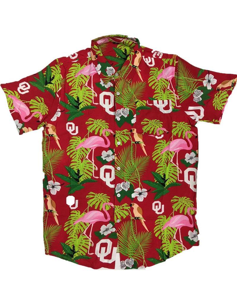 Forever Collectibles Hawaiian Oklahoma Floral Button Up Shirt