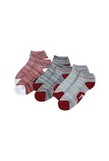 FBF FBF $100RMC OU Sooners 3-Pack No Show Sock-Lg. Mens 9-12