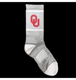 Strideline Men's OU Strideline Grey & White Sock