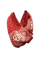 '47 Brand '47 Brand OU Knit Scarf with Buttons Crimson & White