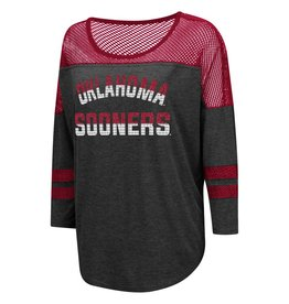 Colosseum Women's Fine! Oversized 3/4 Sleeve Tee with Mesh