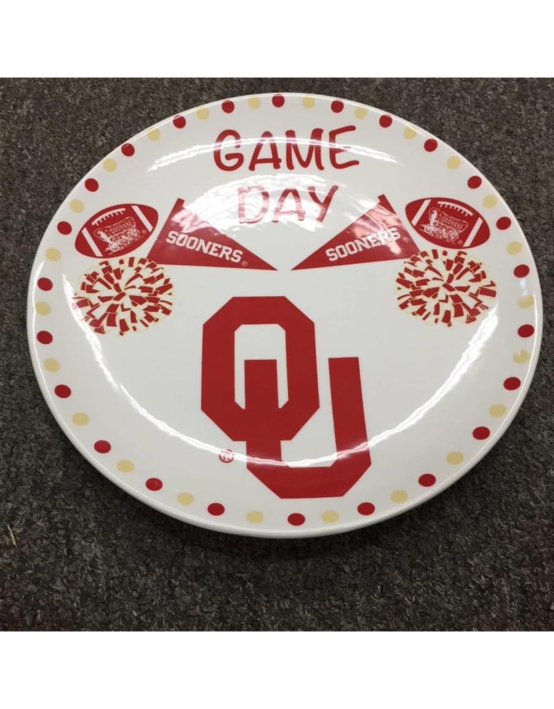 "The Memory Company Ceramic Game Day Plate 10"" diameter"