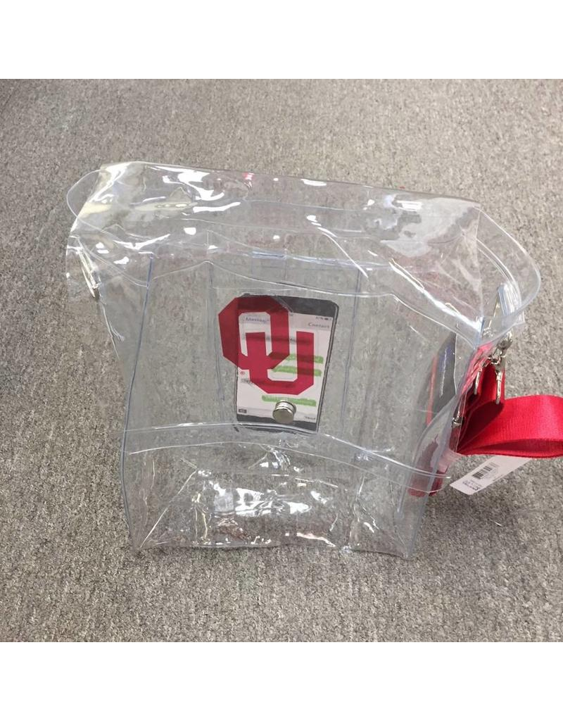 """Little Earth Products Clear Plastic Satchel 10""""x4""""x12"""" tall"""