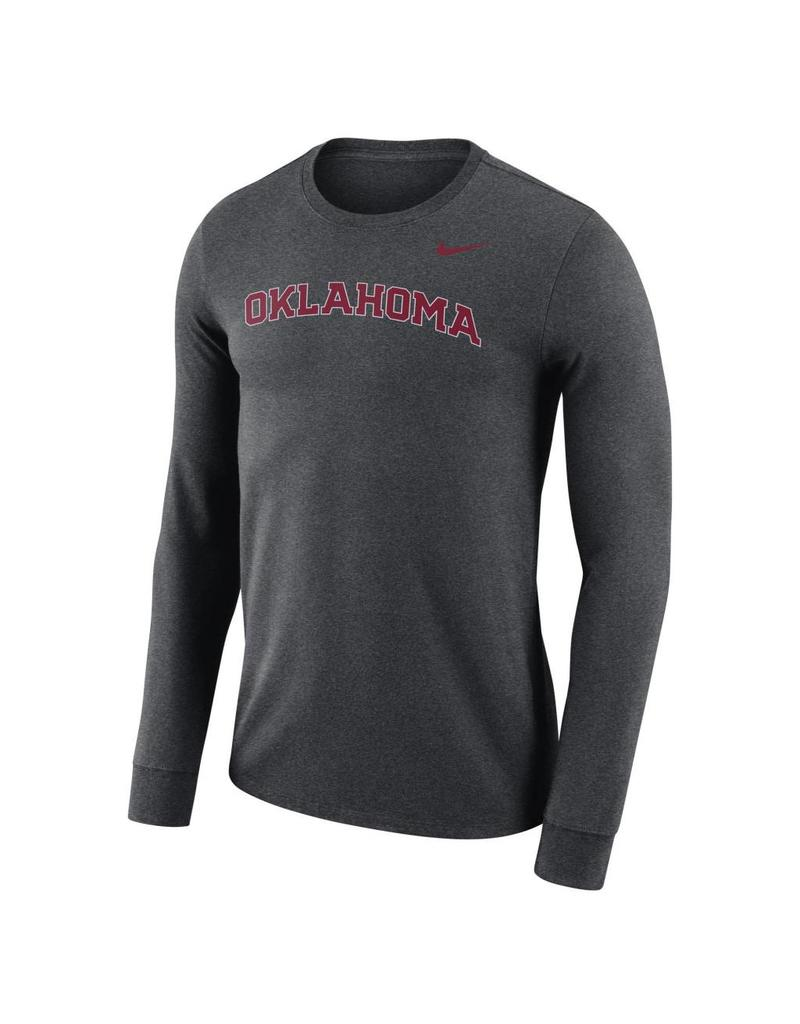 Nike Men's Nike Dri-Fit Cotton Long Sleeve Wordmark Tee