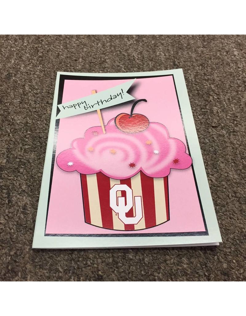 The Fanatic Group OU Cupcake Birthday Card