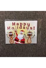 The Fanatic Group Santa & Reindeer Happy Holidays Christmas Card (10pk)