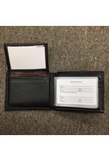 Zep-Pro Zep-Pro Black Pebble Grain Passcase Wallet