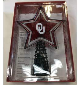 The Memory Company OU Mosaic Lighted Christmas Tree Topper