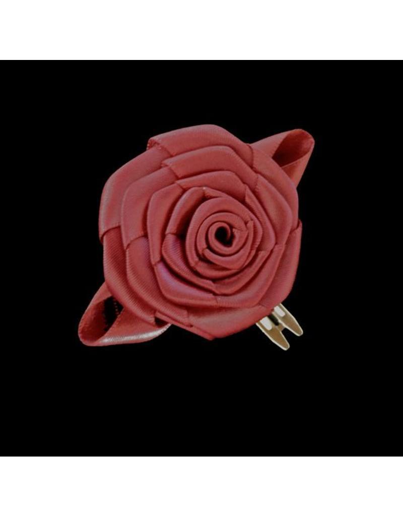 Divine Creations Dark Crimson Rose Hair Clip