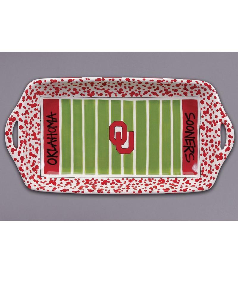 Magnolia Lane Magnolia Lane OU Ceramic Stadium Platter