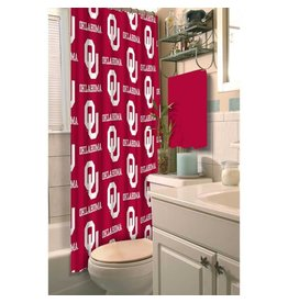 "Northwest OU Oklahoma Fabric Shower Curtain 72""x72"""