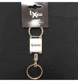 LXG LXG OU Sooners Valet Style Keychain