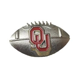 Aminco Football w/ Crimson OU Lapel Pin