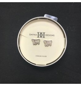 Dayna U Sterling Silver Schooner Post Earrings