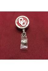 Heritage Pewter Crimson & Pewter OU Badge Reel