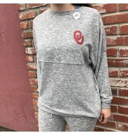 Chicka-d Women's Cozy Fleece Varsity Jersey