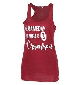 ZooZatz Women's Run Gameday Wear Crimson Tank