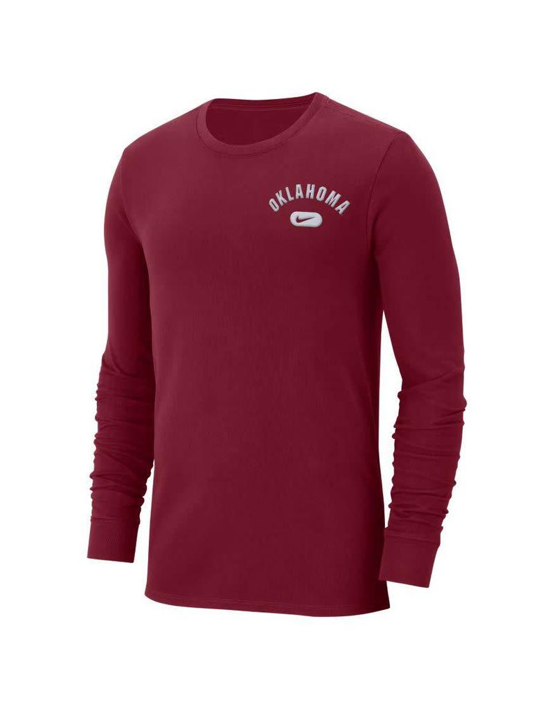 Nike Men's Nike Heavy LS Tee-Crimson